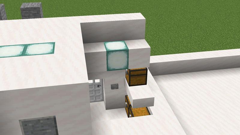 ハーフブロックでおしゃれに魅せるモダンハウスの物置の作り方