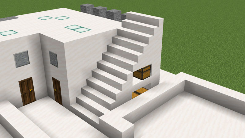 ハーフブロックでおしゃれに魅せるモダンハウスの階段の作り方